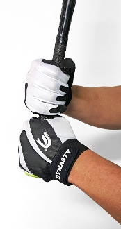 Batting Gloves - Pro Series Black and White