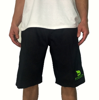 Men's Microfiber Shorts (Black w/ Neon Green)