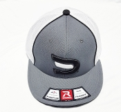 Fitted Charcoal/White/Black Signature Ball Cap