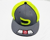 Fitted Safety Green/Grey/Black Signature Ball Cap