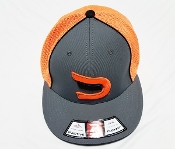 Fitted Safety Orange/Grey/Black Signature Ball Cap